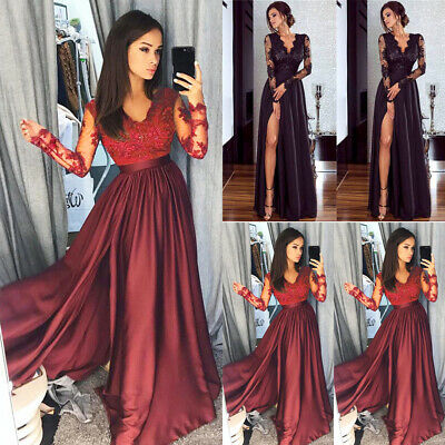 AU Women Evening Party Prom Gown Formal Cocktail Wedding Bridesmaid Long Dress