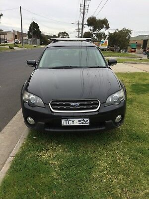 2004 SUBARU OUTBACK AWD BLACK WAGON GOOD-VG COND  RWC/ REGO (Vic),(TCY526),