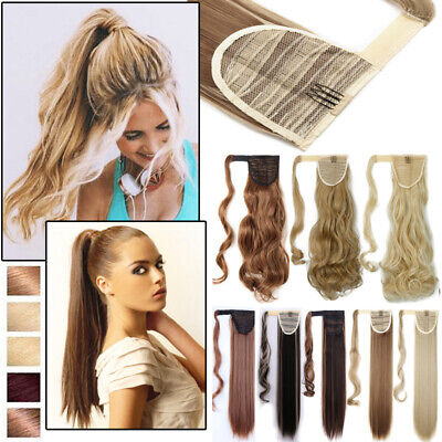 Natural-Like Lady Woman Girl High Ponytail Clip in Long Thick Hair  Extensions GW 0366a81fc