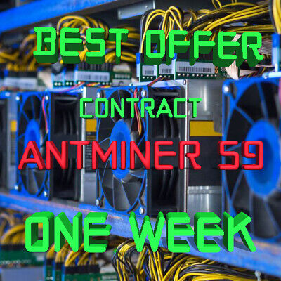 Ƀ💲✅⚡Best Offer 1 Week Mining Contract 14.5 TH/s AntMiner S9 Bitmain BITCOIN BTC