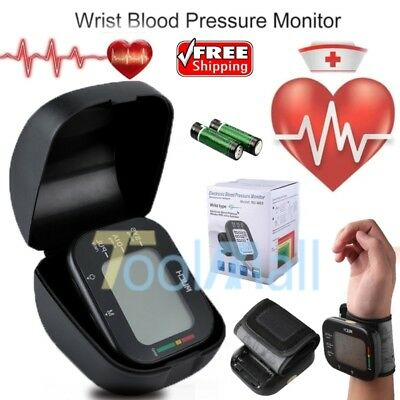 Automatic High Wrist Blood Pressure Monitor BP Cuff Gauge Machine Tester Kit US