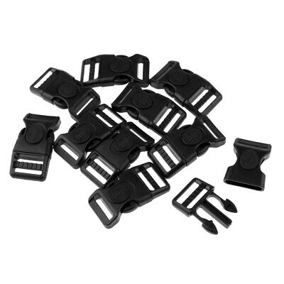 10x Plastic Side Release Buckles for Backpack Luggage Travel Bag Strap Clip tool
