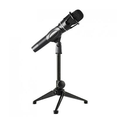 180-degree Rotating Microphone Stand Mic Clip Adjustable Boom Arm Metal Tripod