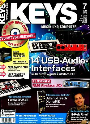 USB Audio Interfaces - Magix Samplitude Pro X Argenté Full Version sur Keys DVD
