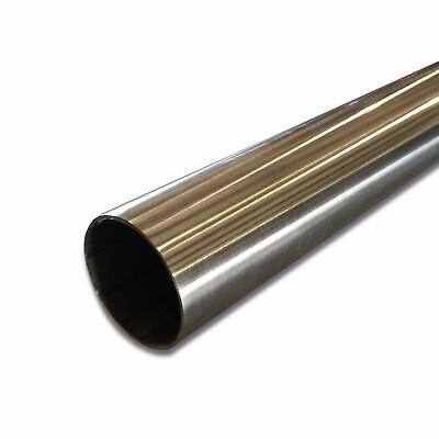 "304 Stainless Steel Round Tube, 2"" OD x 0.065"" Wall x 24"" long, Polished"