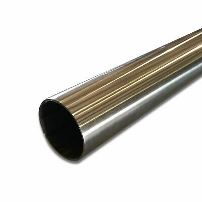 "304 Stainless Steel Round Tube, 2"" OD x 0.065"" Wall x 12"" long, Polished"