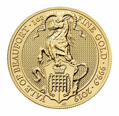 2019 Britain 1 oz Gold Queen's Beasts Yale Beaufort £100 GEM BU Coins SKU57447
