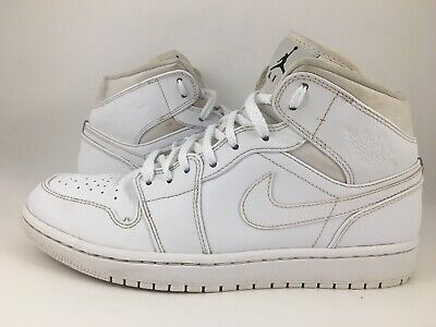 info for 16a0d f380a Mens Nike Air Jordan 1 Mid White Basketball Shoes 554724-110 Size 8.5