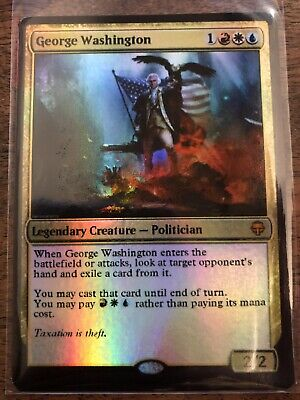 George Washington Magic The Gathering MTG card Planeswalker American President