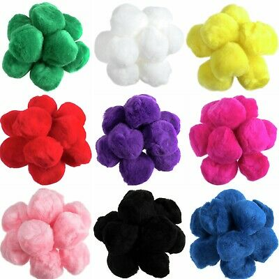 "50mm Pom Poms 5cm - Craft Fluffy Fuzzy 2"" Pom Pom Balls - Choose Quantity"