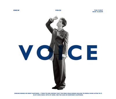 "K-POP SHINEE ONEW 1st Mini Album ""VOICE"" Official - 1 Photobook + 1 CD"