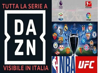 1 MESE DAZN GERMANIA / TEDESCO 100% VISIBILE IN ITALIA! (85+ venduti)