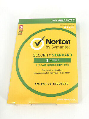 Norton By Symantec Security Standard 1 Device 1 Year #0950