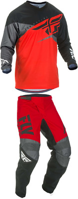 New! Fly Racing F-16 Red/black/grey Jersey And Pant Combo Moto Mx Atv Offroad