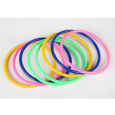 10x Colorful Hoopla Ring Toss Cast Circle Sets Educational Toy Puzzle Kids Hy
