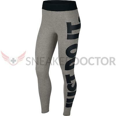 dd2064bcc40e3 New Nike Womens High Waisted Leg-A-See Just Do It Legging Grey Heather