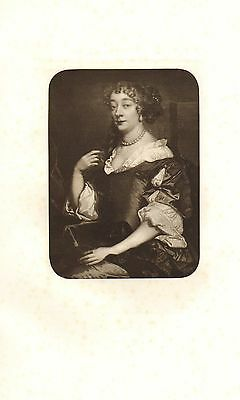 C1900 Imprimé ~ Anne Hyde ~ Épouse de James Stuart Duc de York