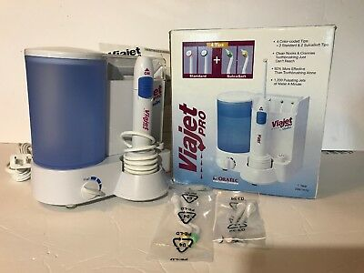 Viajet Pro By Oratec Oral Irrigator 4 Color Coded Tips Pulsating Jets Dental New