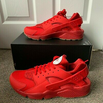878218990a60 NIKE AIR HUARACHE RUN NIKE iD CUSTOM TRAINERS   RED   GUM   EUR 46 ...