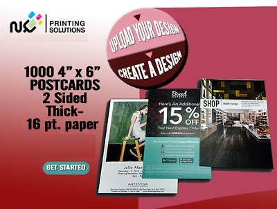 5000 Custom Full Color 4x6 Postcards w/UV Glossy - Real Printing + Free Shipping