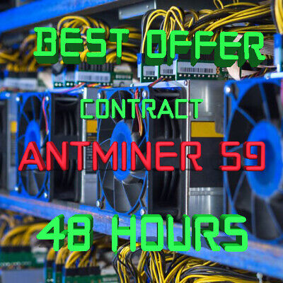 Ƀ💲✅⚡️ 48 Hours Mining Contract - 13.5 TH/s AntMiner S9 Bitmain BITCOIN BTC