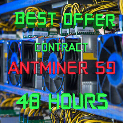 Ƀ💲✅⚡️ 48 Hours Mining Contract - 14.5 TH/s AntMiner S9 Bitmain BITCOIN BTC