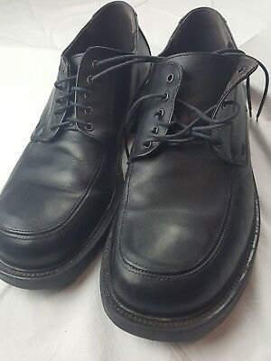1a0ca0afd90 Men s Sketchers Collection Oxfords Shoes Size 9.5M Black Leather Made Italy