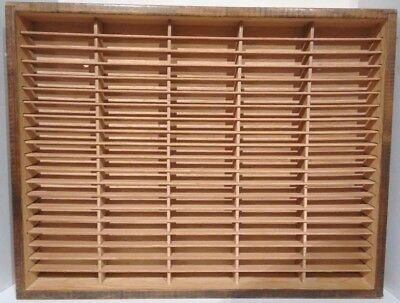 Napa Valley Box Company 100 Cassette Tape Wood Storage Holder Wall Rack Case