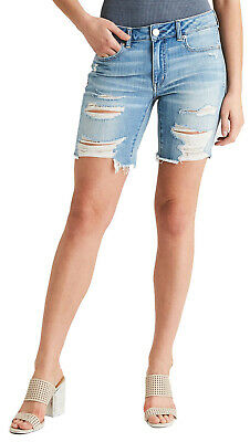 6977-6 American Eagle Womens Size 14 Denim Bermuda Short Destroy Is A Thing