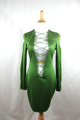 819669f7392 ADULT WOODLAND FAIRY Costume Ren Faire Pixie Fairy Tale Sexy Green Womens  Small