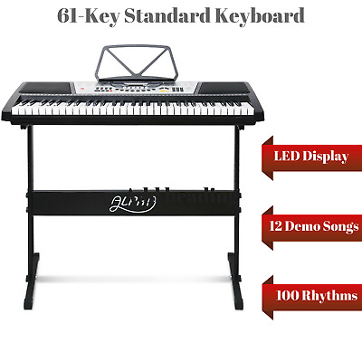 Electronic Keyboard Combo Stand 61 Key Electric Piano Demo Song Record Play Back