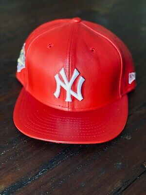 6c369eccc66 NEW ERA x SPIKE LEE 5950 New York Yankees Red Leather 1996 Heritage Cap 7 1
