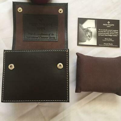 Boxes, Cases & Watch Winders Patek Philippe Large Travel Watch Pouch Brown Leather Best Quality 2019