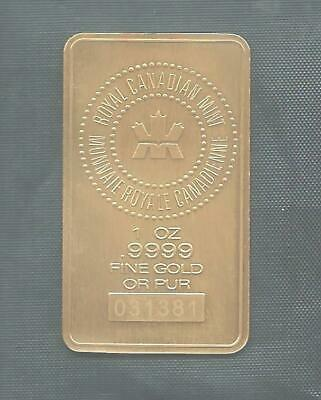 1oz Gold Bar Royal Canadian Mint.  Free Shipping