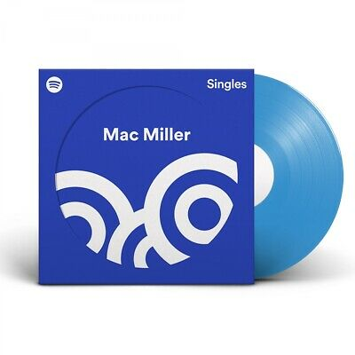 "Mac Miller Spotify Singles Limited Edition Blue 7"" Vinyl Record NEW SEALED"