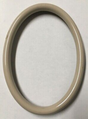 Vintage Decorative 5.25x3.75 Oval Antique Italian Wood Picture Frame Gloss Beige