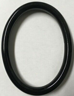 Vintage Decorative 4x3 Oval Antique Italian Wood Picture Frame Gloss Black X97