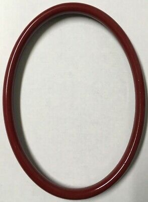 Vintage Decorative 7x5 Oval Antique Italian Wood Picture Frame Gloss Wine X92