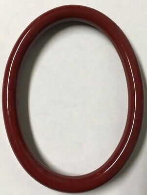 Vintage Decorative 4x3 Oval Antique Italian Wood Picture Frame Gloss Wine X89