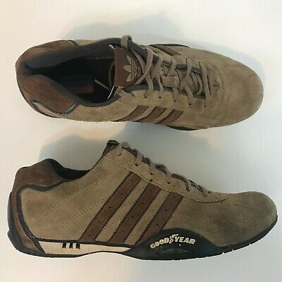 huge selection of 5d1d1 1ca56 Rare Adidas Tuscany Adi-Racer Goodyear Driving Shoes Men Size 6 Brown Suede  2005