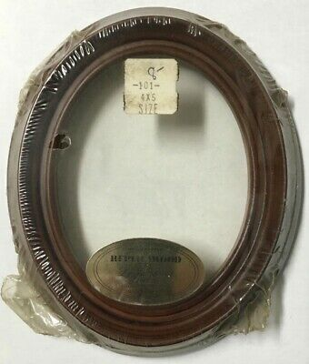 Vintage Decorative 5x4 Oval Antique ReplicaWood Picture Frame American Made X82A