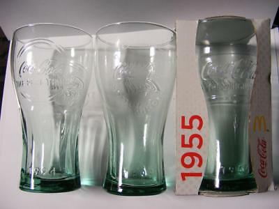 3 Coca-Cola Glasses McDonalds 100th Anniversary of bottle 1994 1899 1955 coke