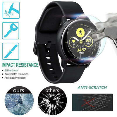 2 PACK Tempered Glass Film Screen Protector For Samsung Galaxy Watch Active