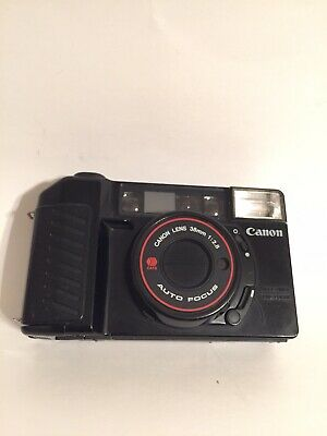 Canon Sure Shot AF35M II Compact Camera for 35mm For Parts or Repair Free Film