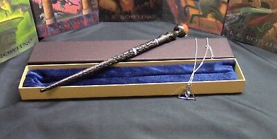 Alastor Moody Wand w/ FREE Deathly Hallow Necklace