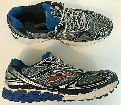 26c078d3f49e7 Brooks Ghost 5 Mens Running Shoes Size 10.5 Metallic Silver Blue Fast  Shipping
