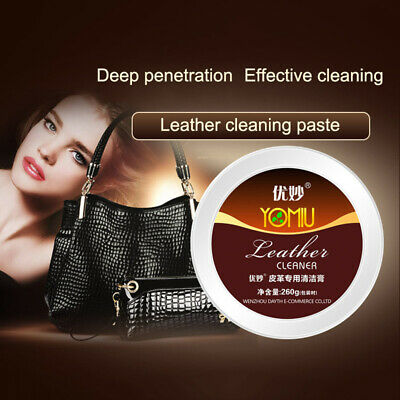 Multifunctional Leather Cleaner Car Seat Bag Clothes Refurbishing Polish Cream