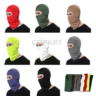 1x Outdoor Ski Motorcycle Cycling Balaclava Lycra Full Face Mask Neck Ultra Thin