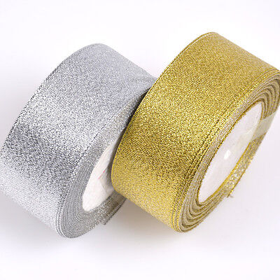 Silk Satin Ribbon 25yards Wedding  Party Festive Decoration Craft Wrapping Jh