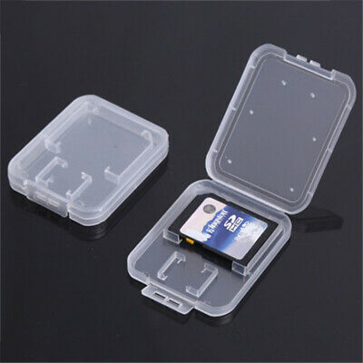 x10 Micro SD SDHC Memory Card Case Holder Box Storage Hard Plastic Transparent